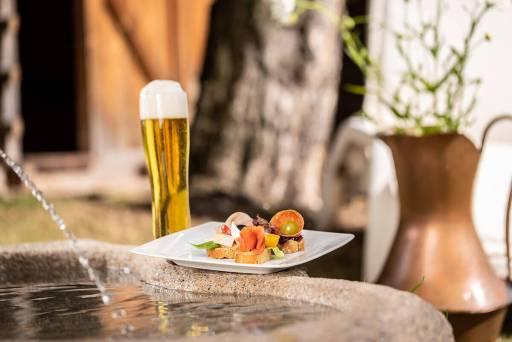 Küche – kleine Häppchen mit Bier