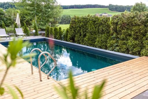 Hotel Solaia – Bio-Schwimmbad mit Panoamablick auf den Schlern