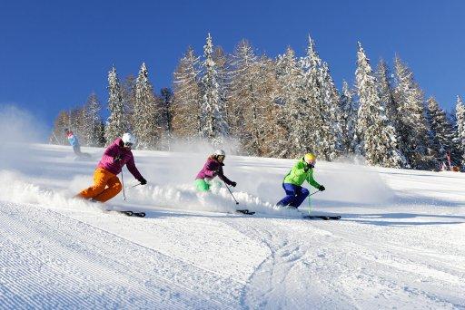 Skifahren auf der Seiseralm – Dolomiten