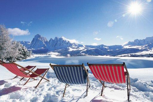Entspannen im Schnee – Seiser Alm – Hotel Solaia