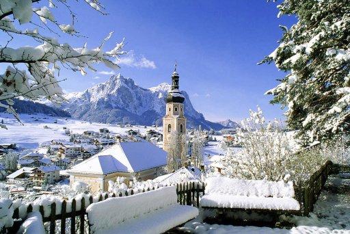 Kasterluth im Winter – Ausblick auf den Schlern