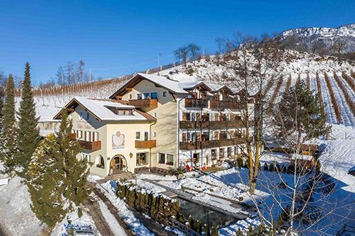 Hotel Solaia im Winter – Ausblick auf den Schlern